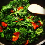 Sauteed Garlicky Kale and Tomato