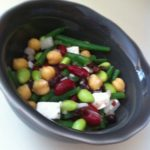 Five Bean Salad with Greek Feta