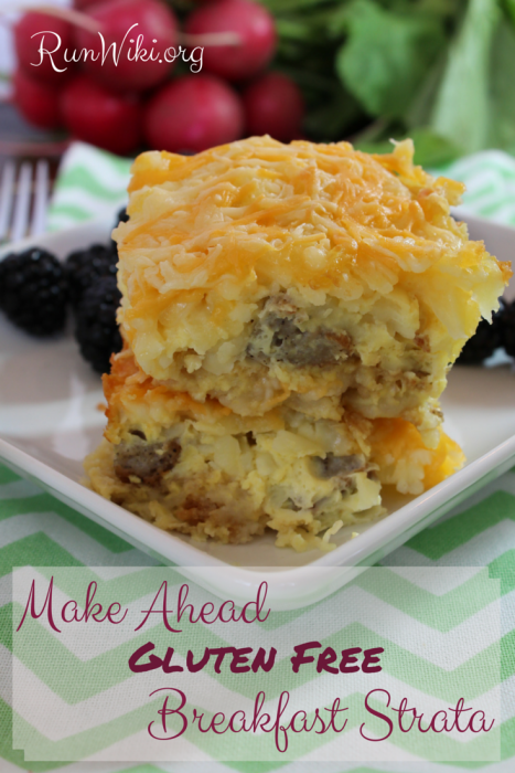 Although this is a Gluten Free Breakfast recipe idea, I served it at a potluck and it was gone in seconds. The gooey cheese melted with the eggs and it's a Make Ahead- so quick and easy- this is one of my most popular recipes!