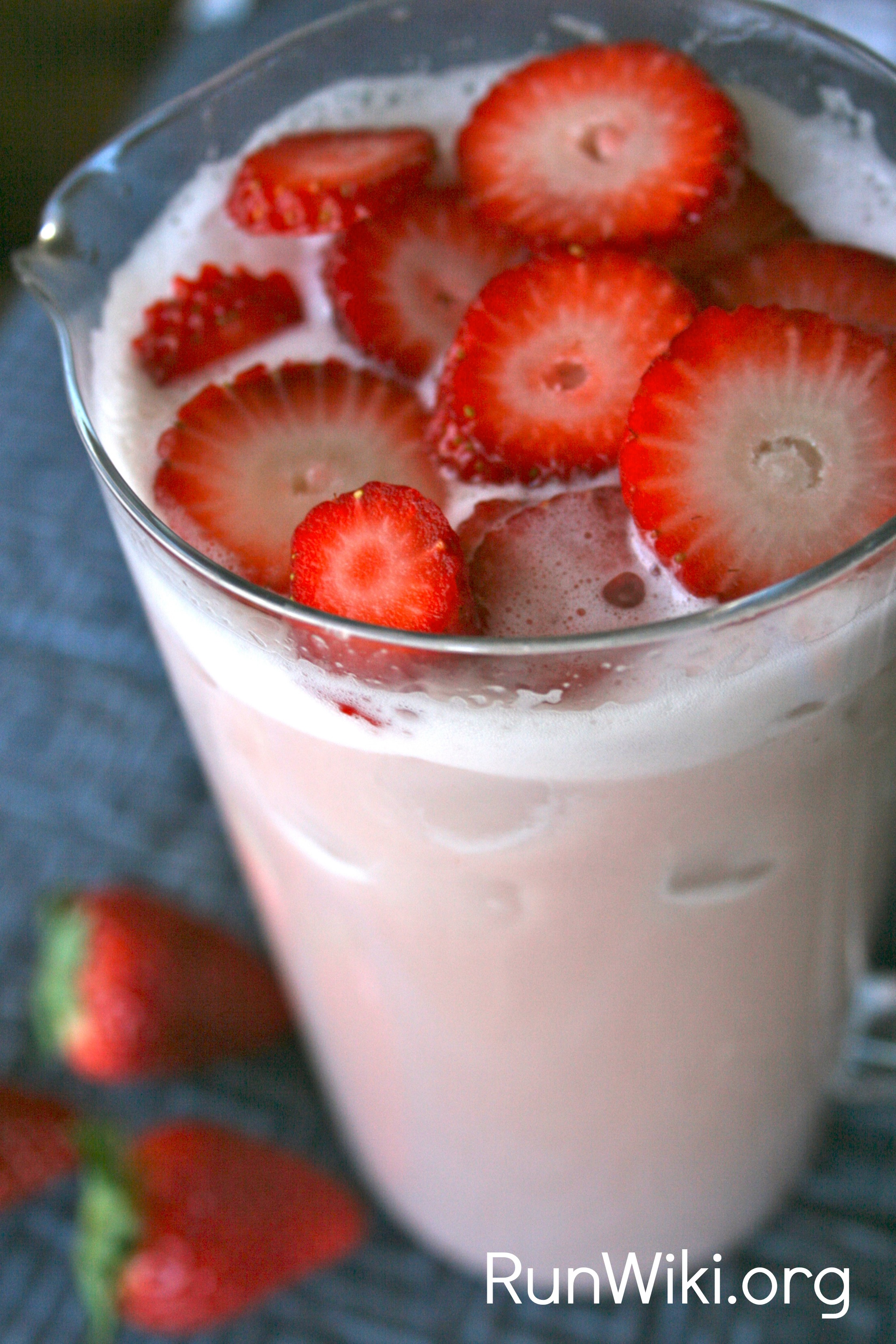 Healthier Strawberry Milk- drink recipes