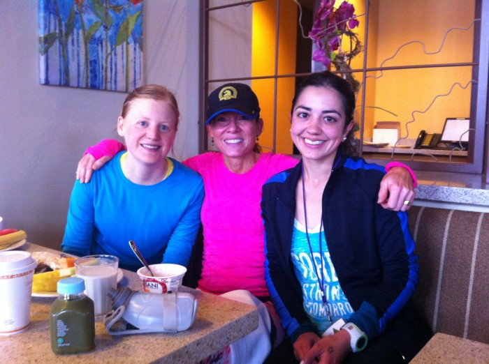 Post run with Laura and Debra
