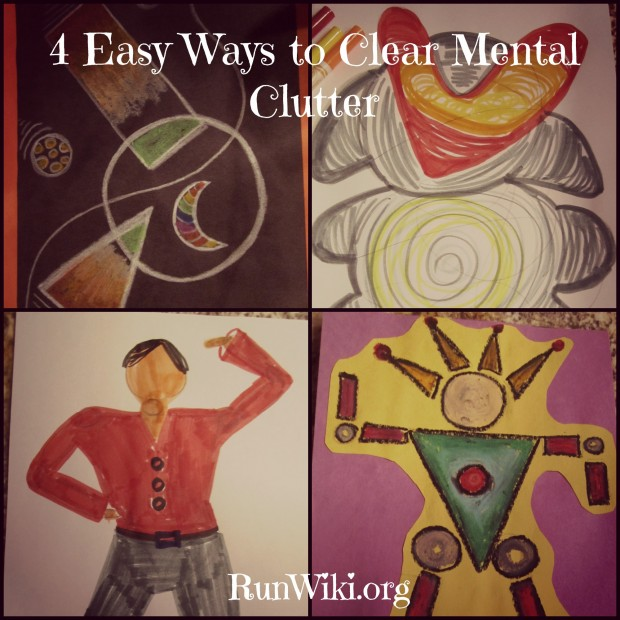 4 Easy Ways to Clear Mind Clutter- 4 art projects that will relieve stress and anxiety. When you stop thinking and color or paint, your mind is able to relax