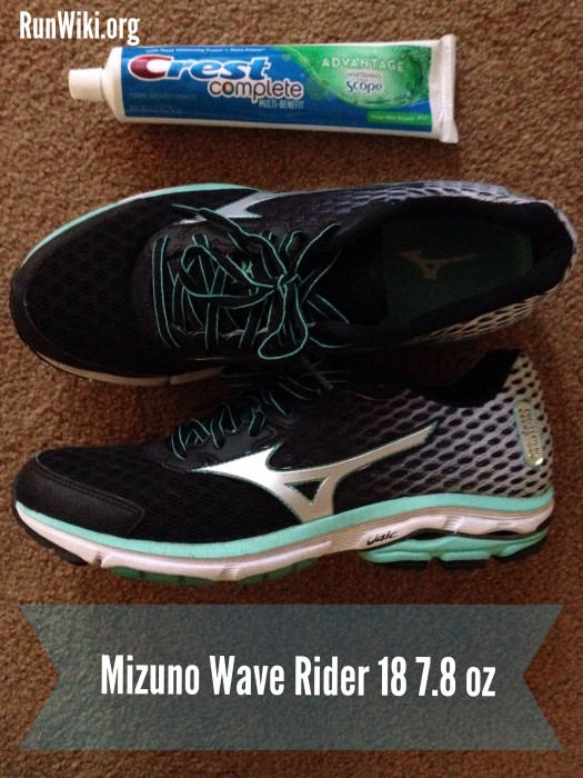 Mizuno as lighter than a tube of toothpaste