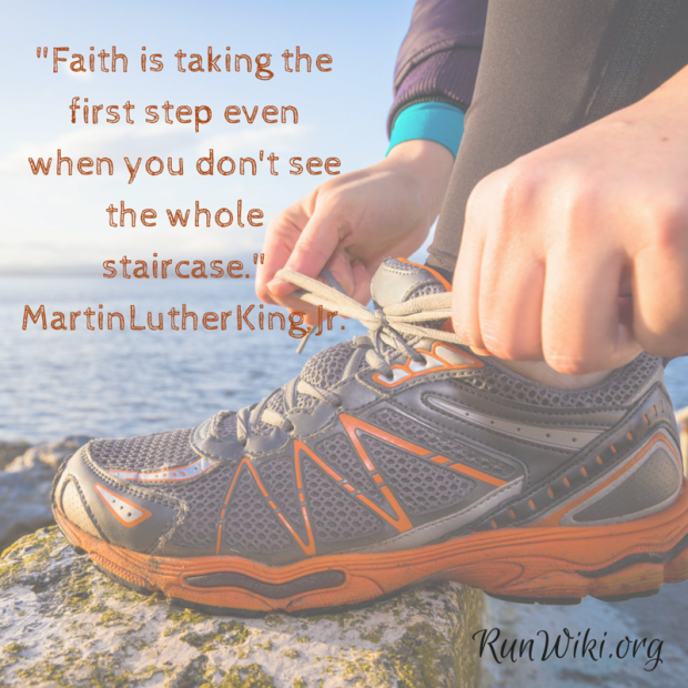 Faith is taking the first step even when