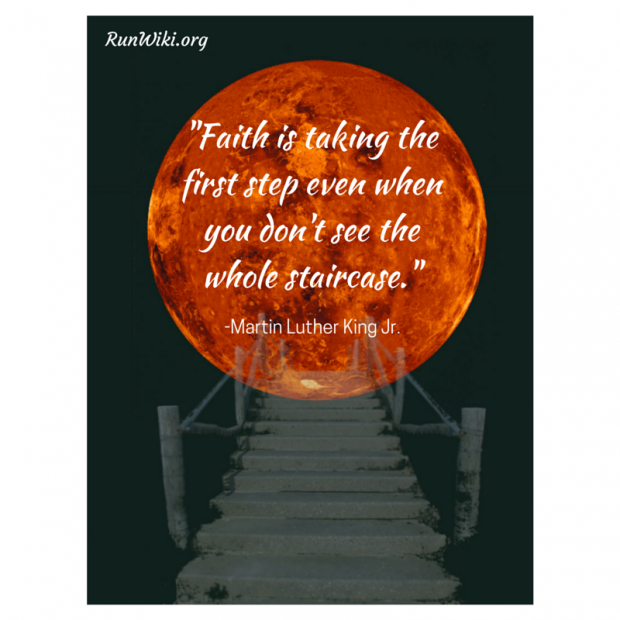 Faith is taking the first step even when copy
