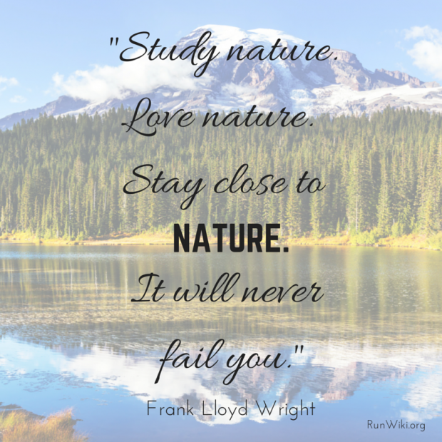 -Study nature. Love nature. Stay close