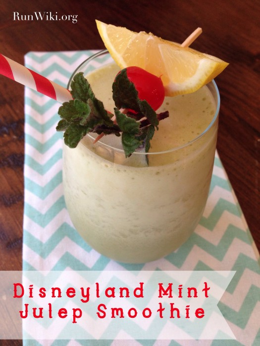 DisneyLand Mint Julep Protein Smoothie- this combo of minty and fruity is so refreshing post workout or run. With the perfect amount of protein to carbs this popular smoothie great as a post workout meal. fitness motivation | running tips
