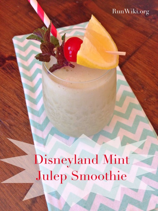 Disneyland Mint Julep Smoothie
