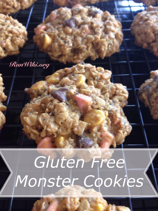 Lightened up low sugar Gluten free Monster Cookie recipe- Perfection- can't tell the difference between these and full sugar- find out the secret ingredient
