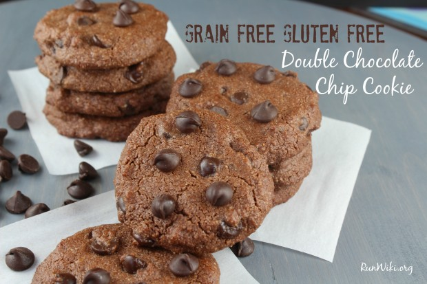 Grain Free Gluten Free Double Chocolate Chip Cookie recipe. These are super easy to make, vegan and so much clean. I don't like mine overly sweet, so this recipe works great. There