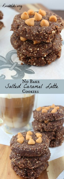 No Bake Salted Caramel Latte Cookies - Who wants to turn on a hot oven during the summer? Not me- this cookie recipe  takes less than 15 minutes to make- my secret ingredient gives these a rich deep flavor.