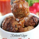 Reduced Sugar Slow Cooker Sweet and Sour Meatballs. Need a quick and easy weeknight dinner recipes? This takes less than 20 minutes to prepare in your crockpot. I serve this at parties and potlucks,- so easy. and popular with kids.