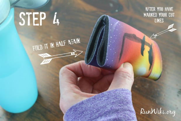 DIY Handheld Water Bottle Holder for runners. These homemade bottle holders take 10 minutes to make. They are even popular with my kids.