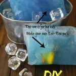 DIY blue gel ice pack- great for runners and add toys to make a boo boo pack for kids