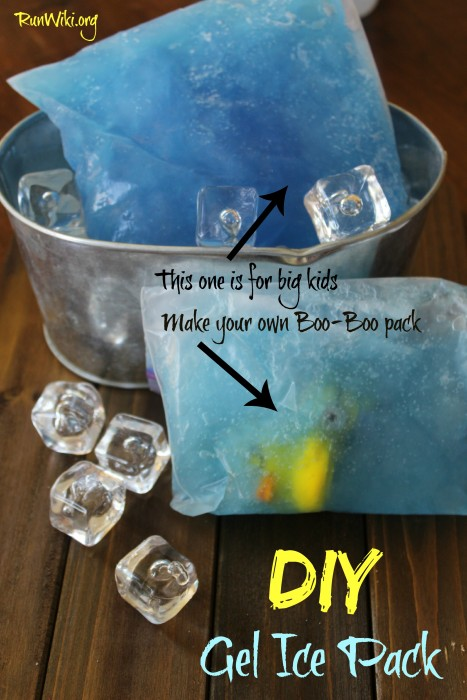 DIY Homemade Gel Ice Pack . I put toys inside to entertain my kids through a boo-boo. I also became very reliant on these during my 12 week half marathon training. They were essential for achy knees. Also can be used for natural headache and sinus pressure relief. I pretty sure every parent and runner could use these at one time or another- they cost pennies to make vs. more expensive store bought.|running motivation -inspiration-tips