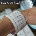 DIY Race Weatherproof race Pace Band