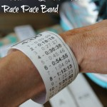DIY Race Weatherproof race Pace Band