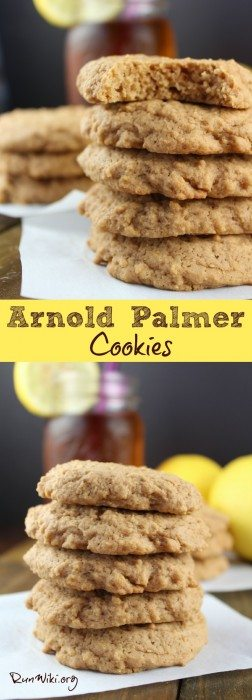 Arnold Palmer Cookie- this is the summer cookie recipe you will not want to miss! Made with black tea and lemon they have a sweet, tangy, complex flavor like the Arnold Palmer lemonade tea we all love and drink. Perfect hostess gift for those summer and spring bbq, potlucks, and parties- such a fun dessert idea.