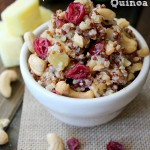 Sweet and Salty Cherry Pineapple Cashew Quinoa Salad