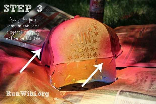 Super easy DIY Trucker Hat Project for runners. This  clothes/hat craft  idea is only 4 steps. Could be given as a Christmas gift for a fitness person who is training for a half marathon- could put any quote for inspiration and motivation on it- running tips.