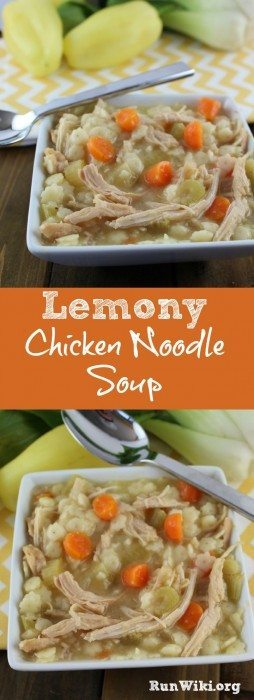 Easy weeknight Lemony Chicken Noodle soup. This recipe is packed with vegetables and chicken and very healthy. I make a large batch and put it in my kids' school lunches.