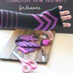 DIY No Sew Thumb Hole Arm Warmers- Runner Hacks