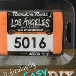 DIY Race Bib Tray for runners. Upcylce old race memories with this easy craft idea. If you are wondering what to do with old bibs, heres an answer. If you can cut and glue you can make this. Great Christmas gift idea for the runner in your life. Half marathon training| 5K training | 10K training for beginners | fitness | motivation | quotes | workout tips