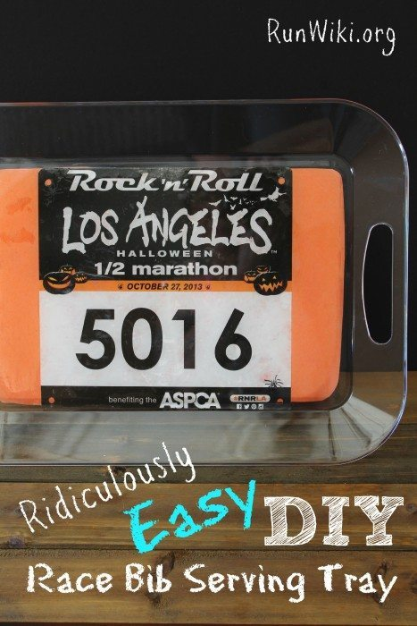 DIY Race Bib Tray for runners. Upcylce old race memories with this easy craft idea. If you are wondering what to do with old bibs, heres an answer. If you can cut and glue you can make this, easy enough for kids to make. Great Christmas gift idea for the runner in your life. Half marathon training| 5K training | 10K training for beginners | fitness | motivation | quotes | workout tips