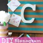 DIY Monogram Pin Board- great Christmas craft gift idea for desk or bedroom. Easy project  with only 4 steps
