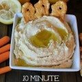 This homemade classic hummus dip recipe is so easy to make. I love the garlic lemon flavor of this dip. A perfect healthy appetizer on game day, for a party, or holiday.