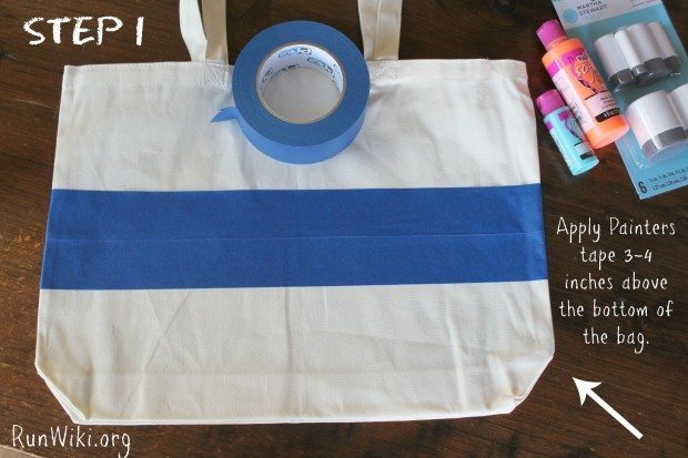 Easy DIY craft for runners. This bag would be great as a gift for a beginner doing their first 12 week training program for a half marathon or anyone who loves running! you could also do 5K, 10K or marathon. Easy step by step tips. fitness motivation| quotes