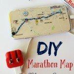Easy DIY Marathon Map Phone Cover