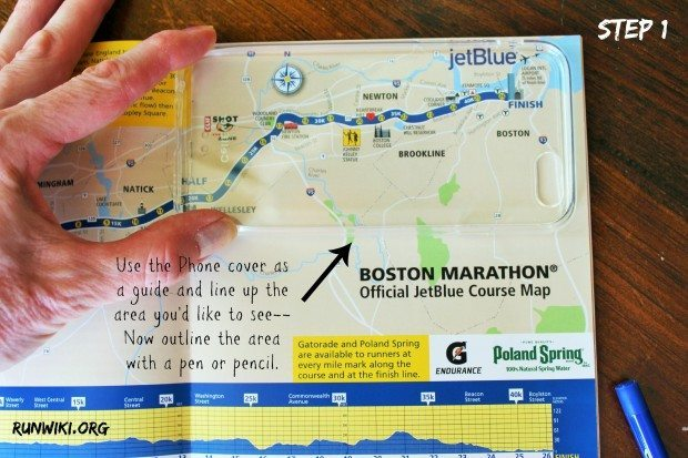 If you can outline and cut you can make this easy DIY marathon map phone cover. This took me 10 minutes to make and would be such a great gift for someone who has just completed a half marathon or full.