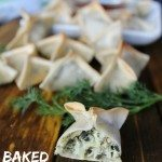 Make Ahead-Freezer Friendly Baked Spinach Artichoke Wontons
