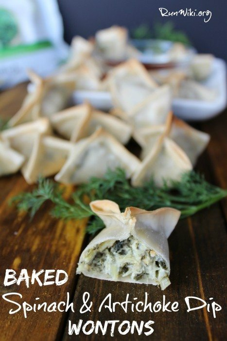 It is tough to get my kids to eat their vegetables but when I serve these baked spinach artichoke dip won tons, there is not one complaint- my family loves this appetizer. These are freezer friendly and you can make ahead which makes them ideal for game day, parties or an after school snack- recipe includes a vegan option. ad