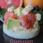 "Grapefruit Avocado Salad on a Jicama ""Bruschetta"""