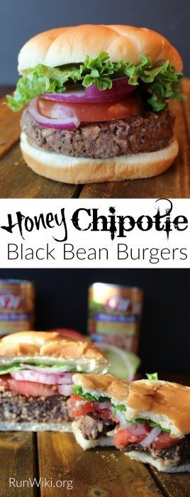 The very best meatless burger I have ever had. Try this Honey Chipolte Black Bean Burger at your next party or BBQ. Replace the honey with agave to make it vegan. Great main dish or weeknight dinner idea. Can be made ahead and stored in the fridge or freezer. Excellent Post Workout meal.