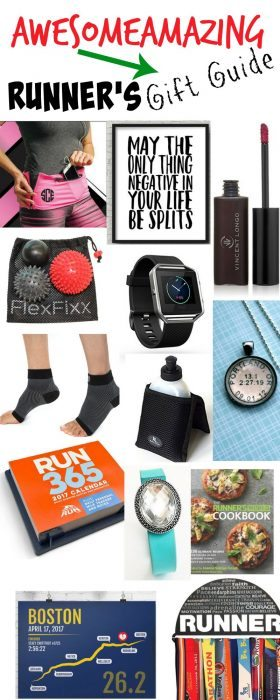 The ultimate gift guide for runners-- awesome options for both men and women with a link to 13 easy DIY projects as well. I want everything on this list. So many fun and unique items for the runner in your life.  Half Marathon training | Running tips | Motivation | Holidays | Runners