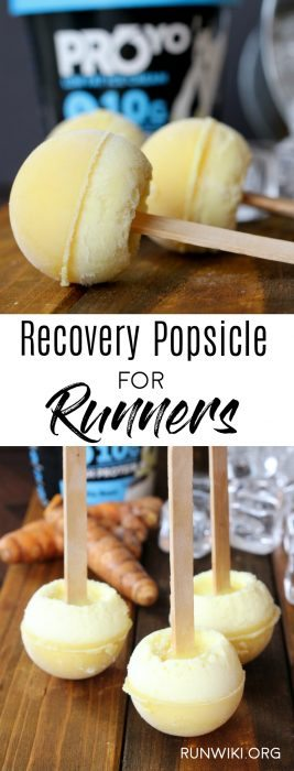 These little homemade popsicles are the perfect post run or workout snack food recipe. Packed with protein and natural anti-inflammatory ingredients turmeric and ginger. Accelerate your recovery this summer with these frozen treats. @proyotreats @ralphsgrocery #ad #ad #Pmedia #Proyohighproteinicecream Running | Half Marathon training | foods | tips | golden milk